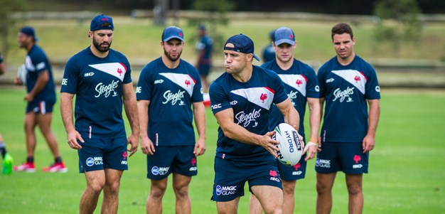 Cronk, Johns at Roosters training