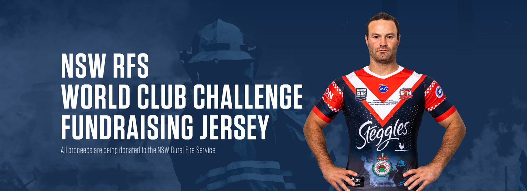 Roosters to wear special World Club Challenge jersey to raise funds for NSW RFS