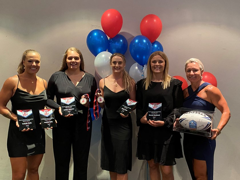 The 2020 award winners. Isabelle kelly, Caitlan Johnston, Brydie Parker, Hannah Southwell and Kylie Hilder (left to right).