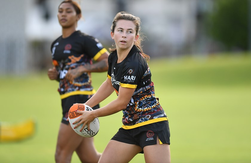 Quincy Dodd will be looking to stamp her mark in this week's Indigenous All Stars clash.