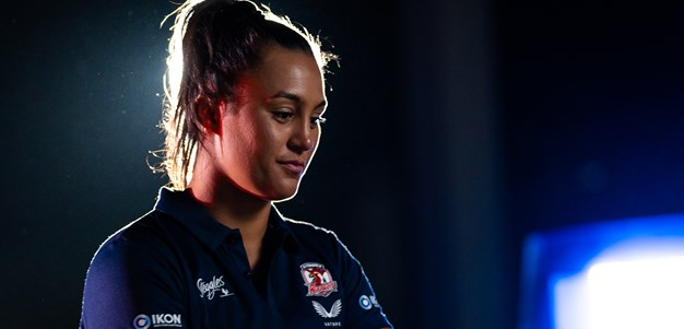 Roosters celebrate Corban Baxter for Women in League Round