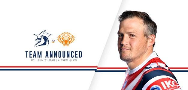 Line Up for Round 2 vs Wests Tigers Announced