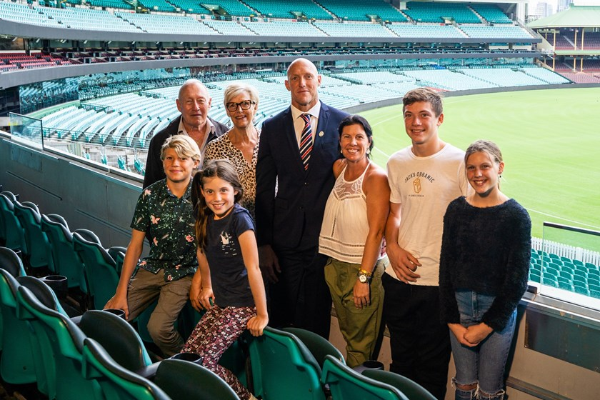 Family man: Craig Fitzgibbon and his family celebrate his Life Membership.