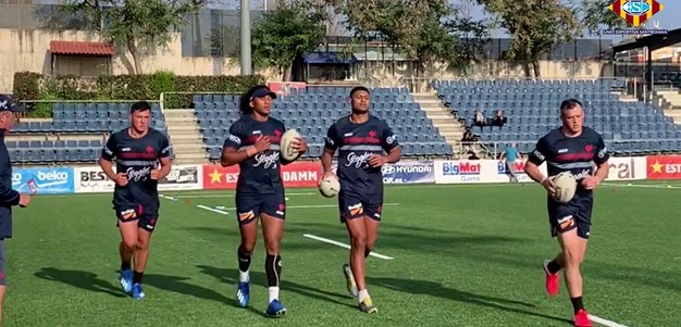 Roosters Train In Barcelona