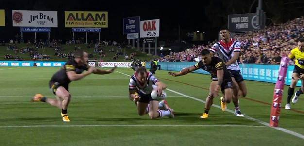 Keary creates for Josh Morris down the left
