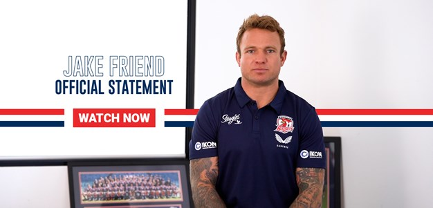 Statement from Jake Friend