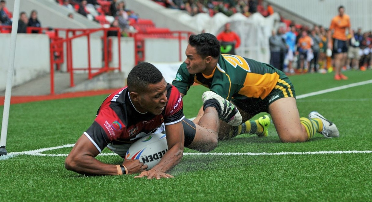 28 June 2014. The Rugby League Commonwealth ChampionshipTournament at Broadwood Stadium, Cumbernauld.