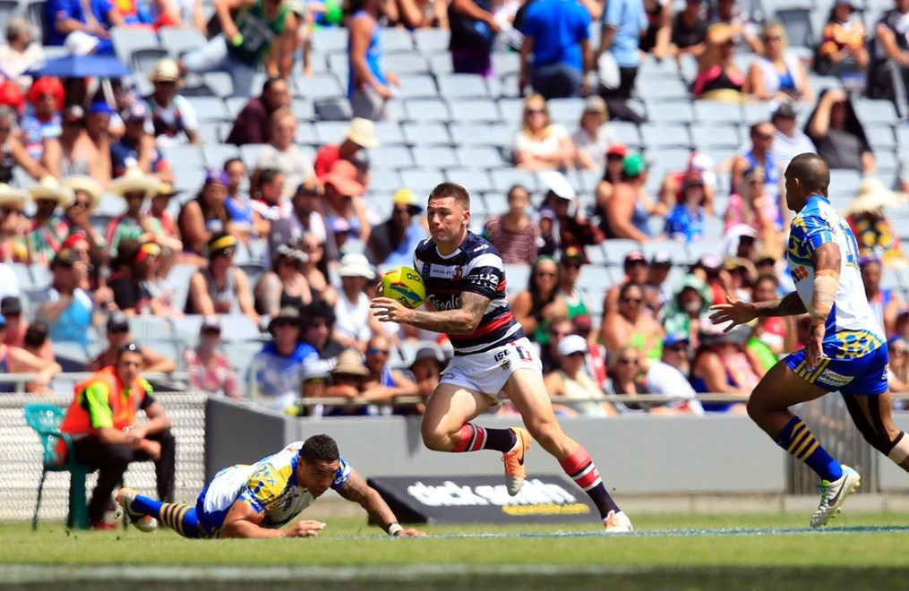 :           NRL Auckland Nines, Roosters v Eels at Eden Park, Saturday February 15th 2014. Digital image by Shane Wenzlick, copyright nrlphotos.com