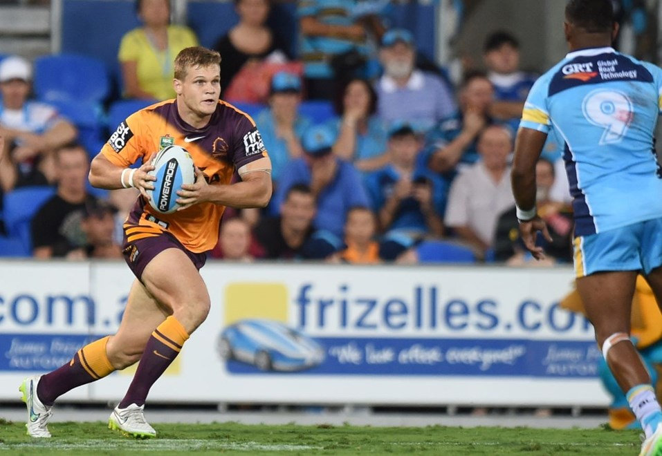 Dale Copley : Digital Image by Scott Davis copyright © nriphotos. NRL Rugby League, Gold Coast Titans v Brisbane Broncos at Cbus Super Stadium, Gold Coast, April 3rd, 2015.