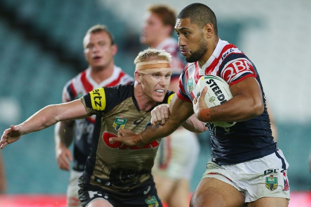 Competition - NRL Premiership Round - Round 07 Teams - Sydney Roosters v Penrith Panthers - 18th of April 2016 Venue - Allianz Stadium, Moore Park, NSW, Photographer - Paul Barkley