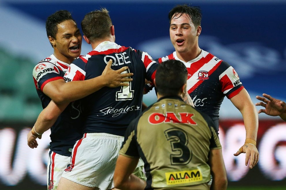 Competition - NYC Premiership Round - Round 07 Teams - Sydney Roosters v Penrith Panthers - 18th of April 2016 Venue - Allianz Stadium, Moore Park, NSW, Photographer - Paul Barkley