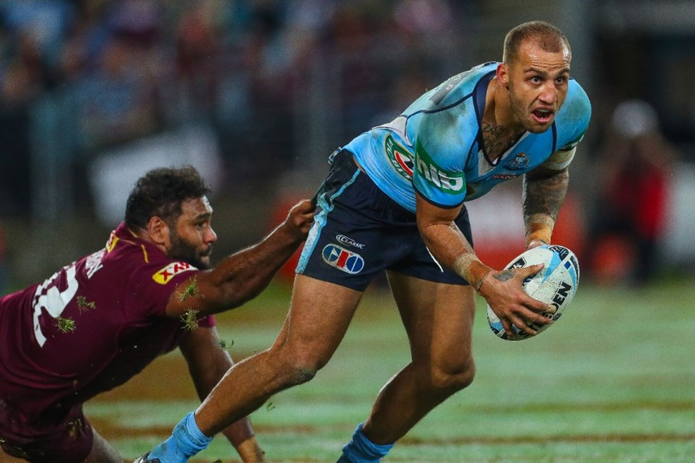 Competition - State of Origin. Round - Game 1. Teams - Queensland Maroons v NSW Blues. Date - 1st of June 2016. Venue - ANZ Stadium, NSW. Photographer - Paul Barkley.