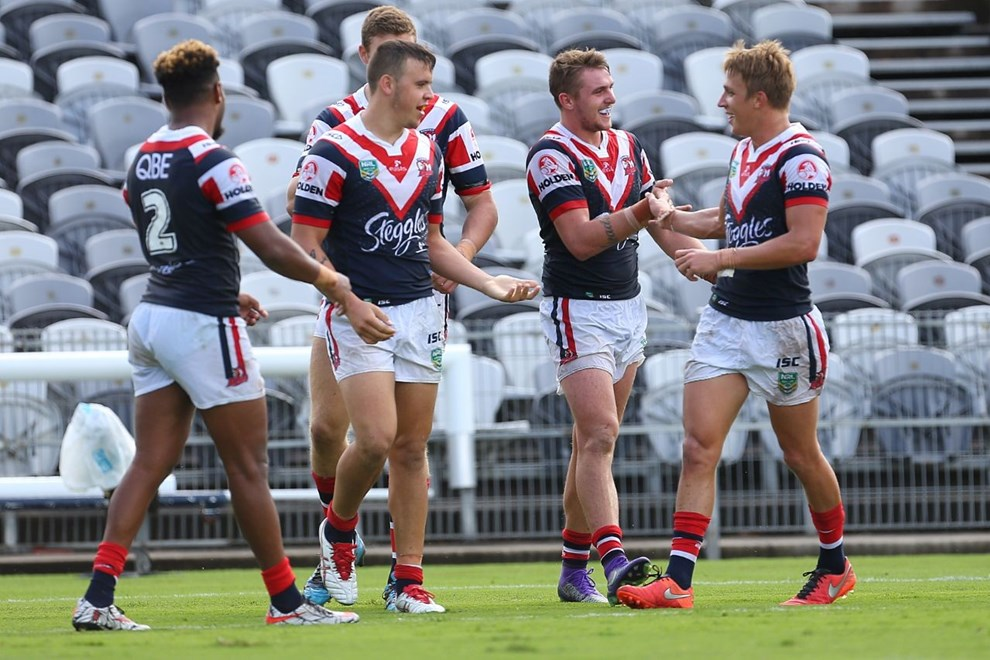 Competition - NYC Premiership Round - Round 05 Teams - Sydney Roosters V New Zealand Warriors - 3rd of April 2016 Venue - Central Coast Stadium, Gosford NSW, Photographer - Paul Barkley