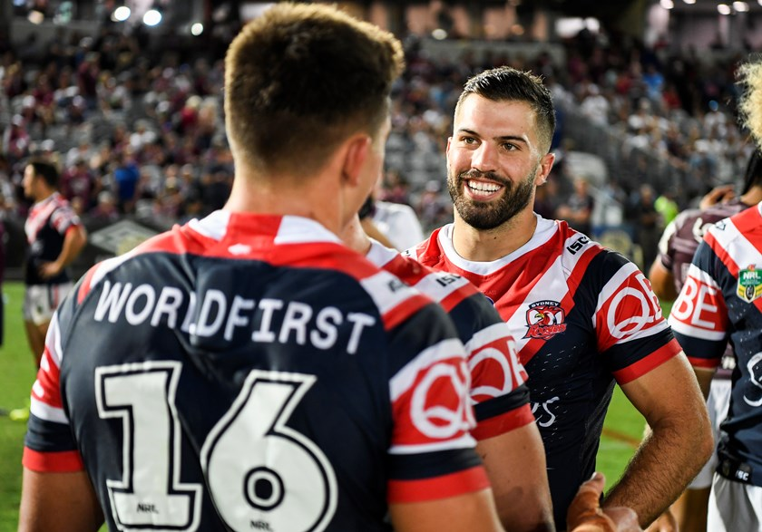 James Tedesco in the Tricolours for the first time following our Central Coast trial win over the Manly-Warringah Sea Eagles in 2018