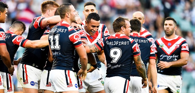 Roosters hold on to overcome gritty Sea Eagles