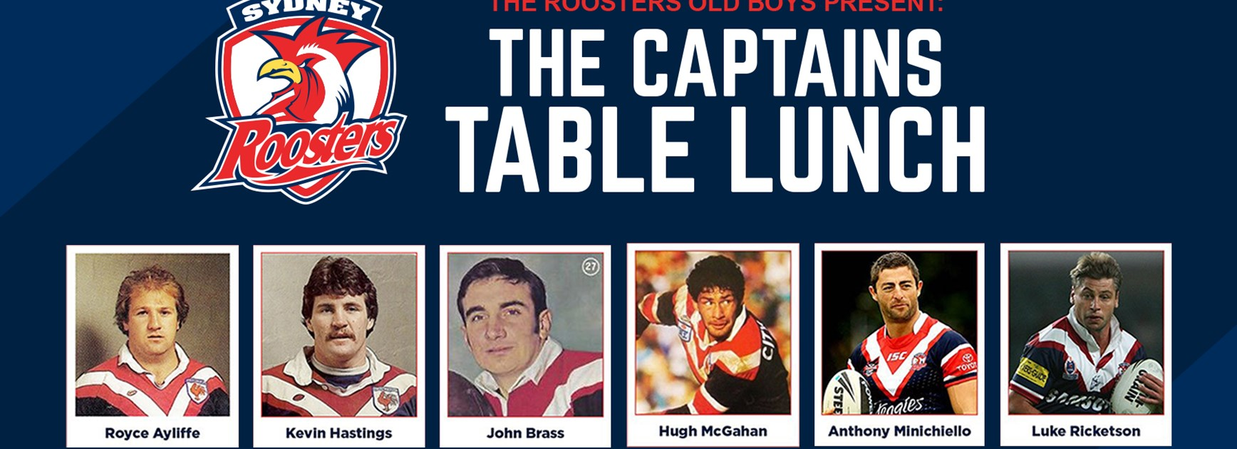 Roosters Old Boys Captains Table Lunch