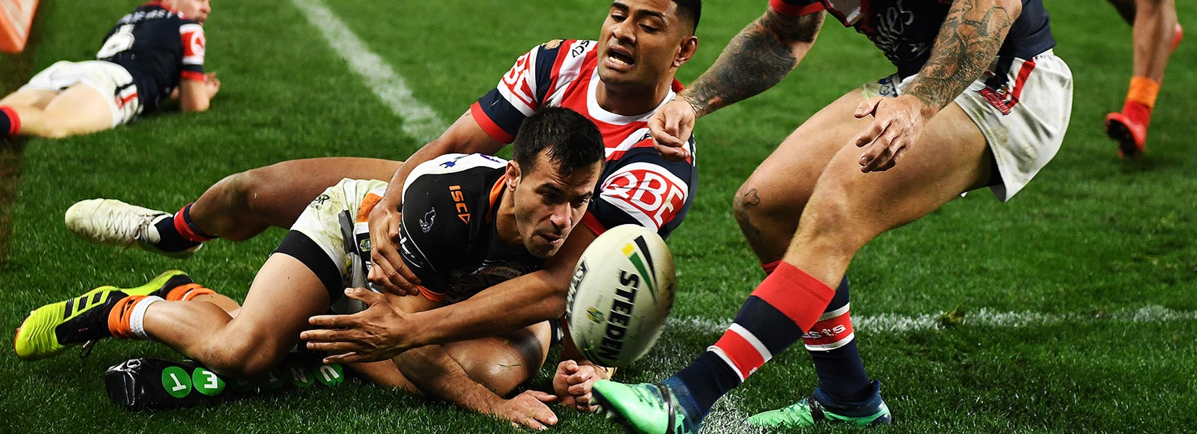 Ferguson, Tupou heroics help Roosters to win over Wests Tigers