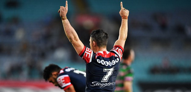 Roosters leapfrog Rabbitohs after gritty win