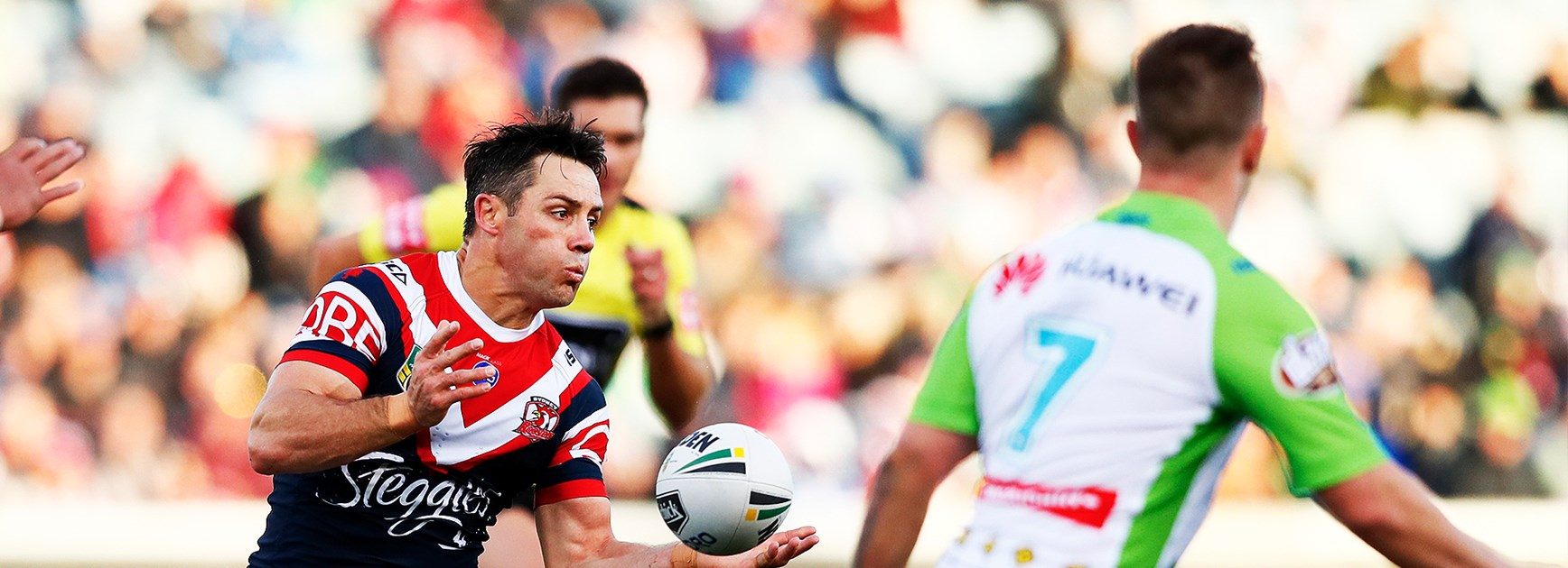 Raiders win a close one to knock Roosters off top spot