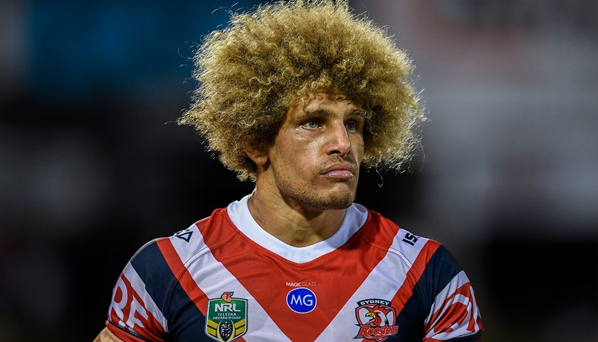 Eloni Vunakece debuted for the Sydney Roosters against the Manly Sea Eagles