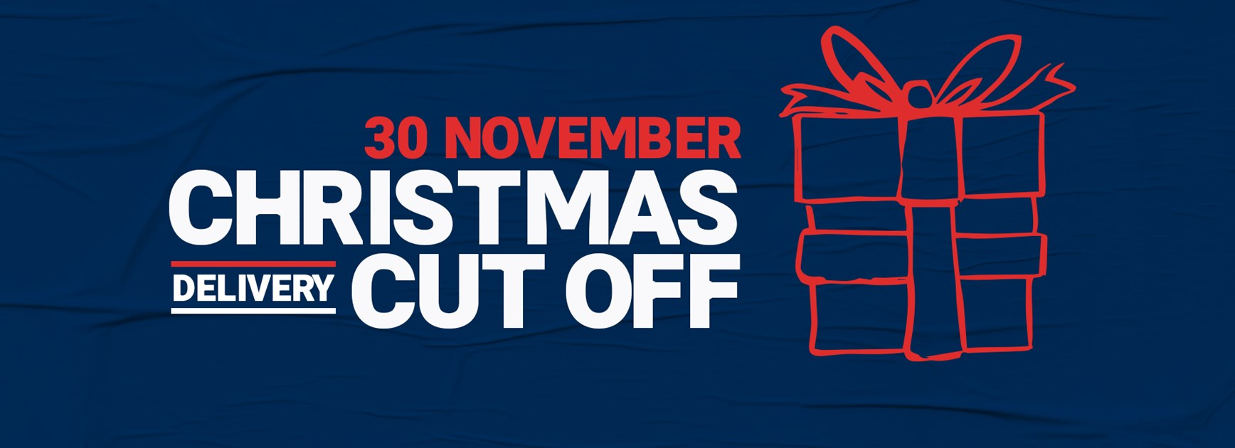 Christmas Cut Off On Friday!