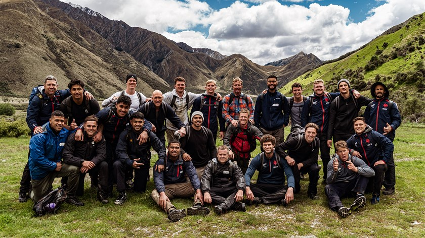 Nathan's first challenge with the Roosters squad, an army camp in Queenstown.
