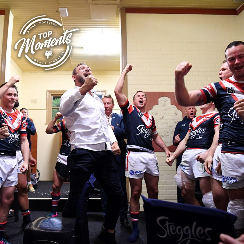 The team song following a hard-fought Preliminary Final win against the Melbourne Storm.
