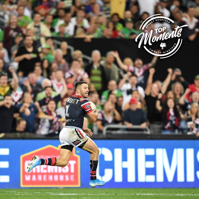 Tedesco races away to score THAT Grand Final try!