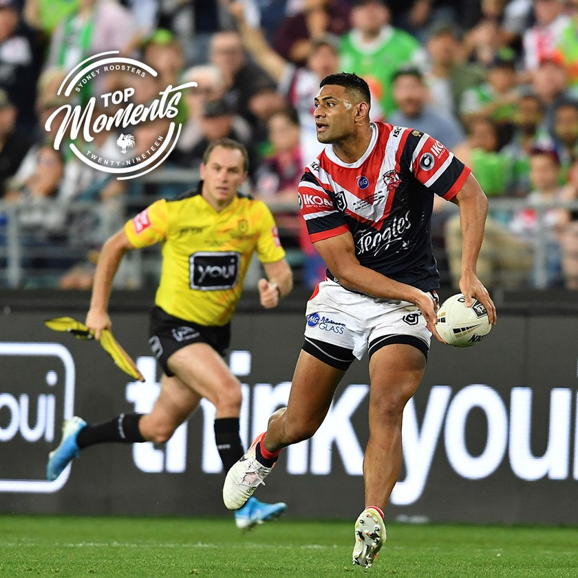 Standing tall in the big moments, Daniel Tupou makes the most important try assist of the season in the NRL Grand Final.