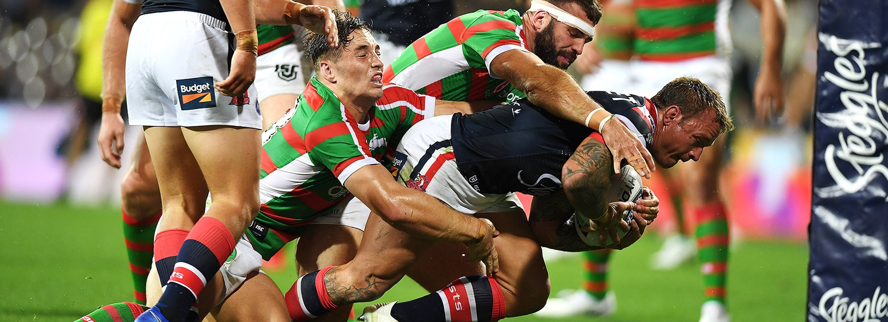 Rabbitohs launch Bennett era in style by rolling Roosters