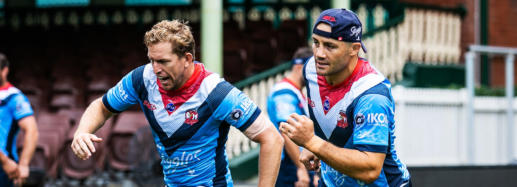 Roosters Train On SCG Pitch Ahead Of Kick Off