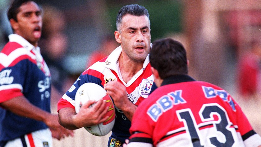 Quentin Pongia takes a hit-up against the North Sydney Bears.