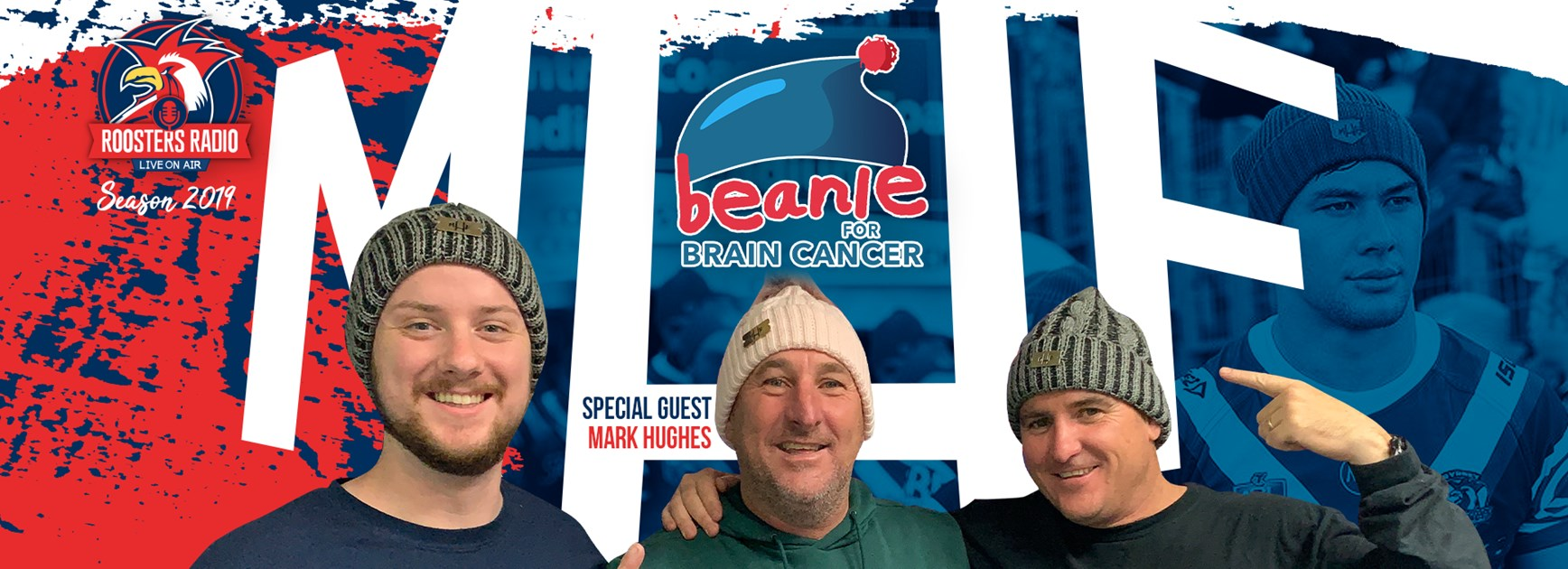 Roosters Radio | Beanie For Brain Cancer Round