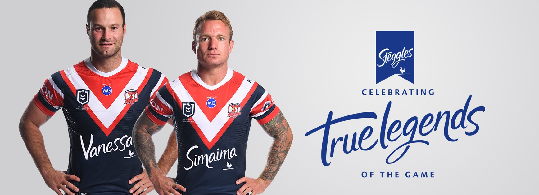 Steggles and Roosters support True Legends of the Game
