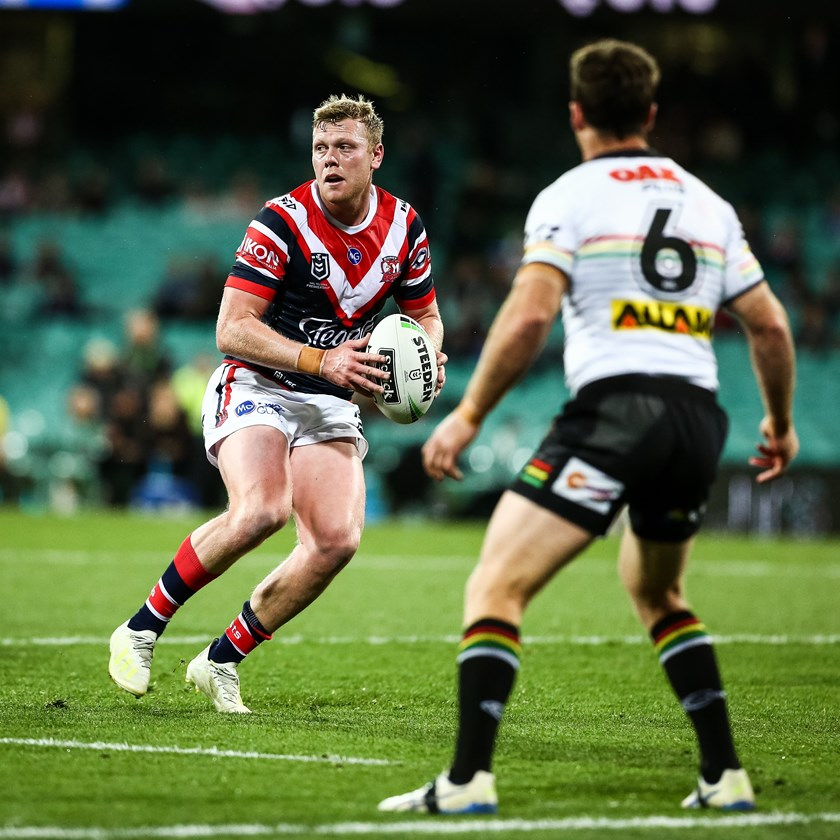 Hutchison lines up against former Roosters five-eighth James Maloney.