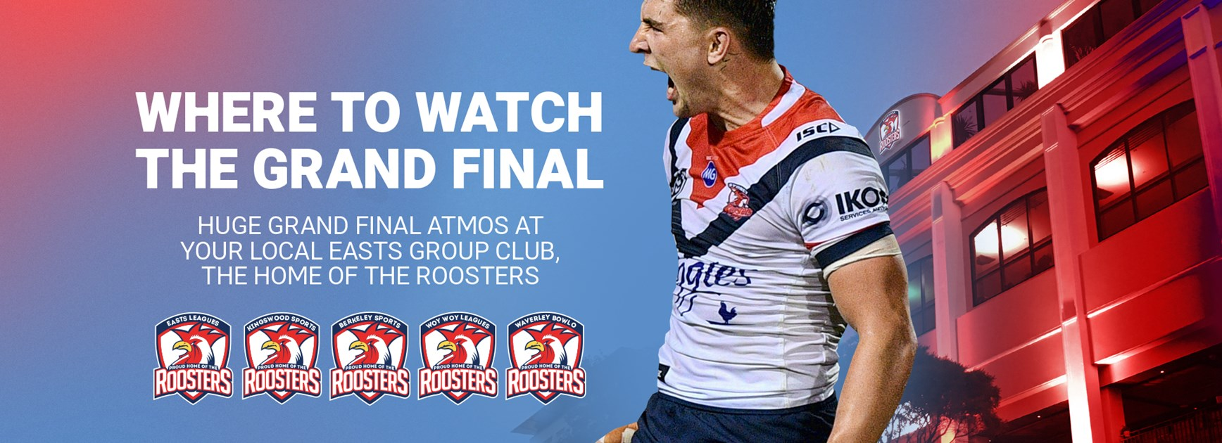Watch the Grand Final At Easts Leagues