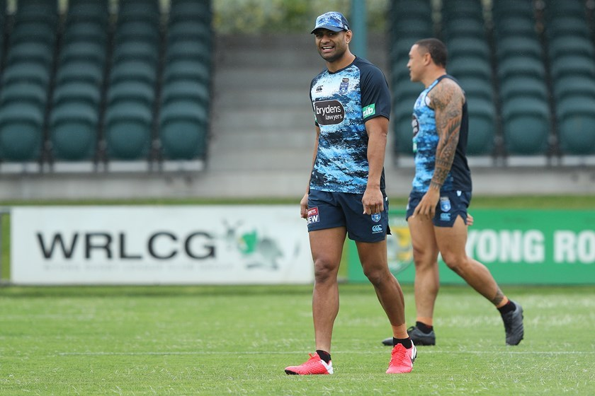Tupou has been training the house down for the Blues.
