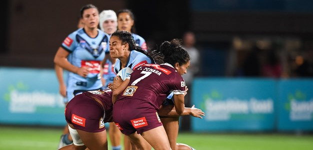 Maroons survive late scare to outlast Blues