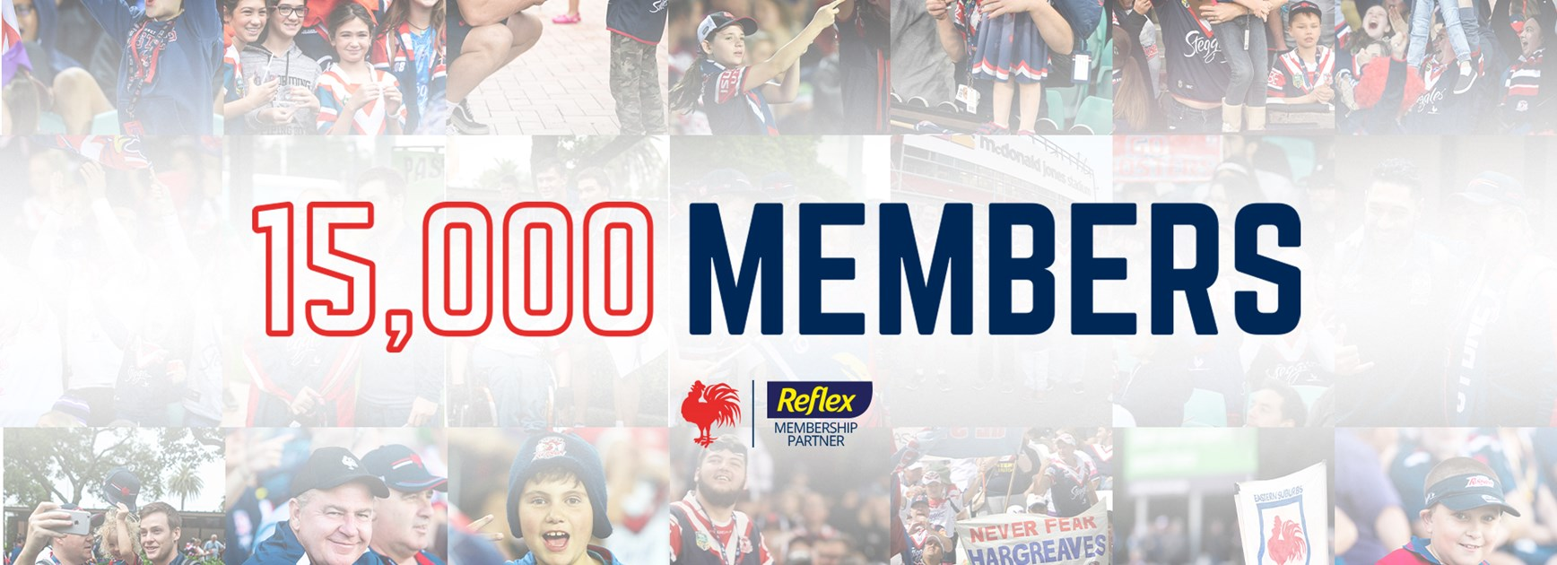 Sydney Roosters 15,000 Strong For Kick Off