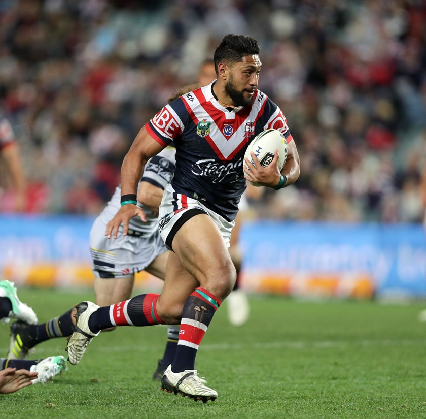 Isaac Liu is now one of the veteran forwards at the Sydney Roosters.