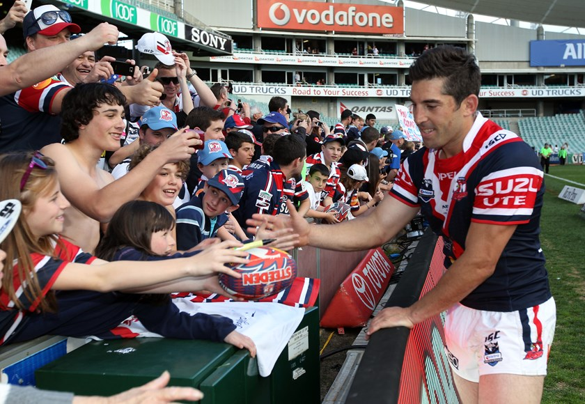 Braith Anasta played seven seasons with the Sydney Roosters. He was Captain for three of those years.