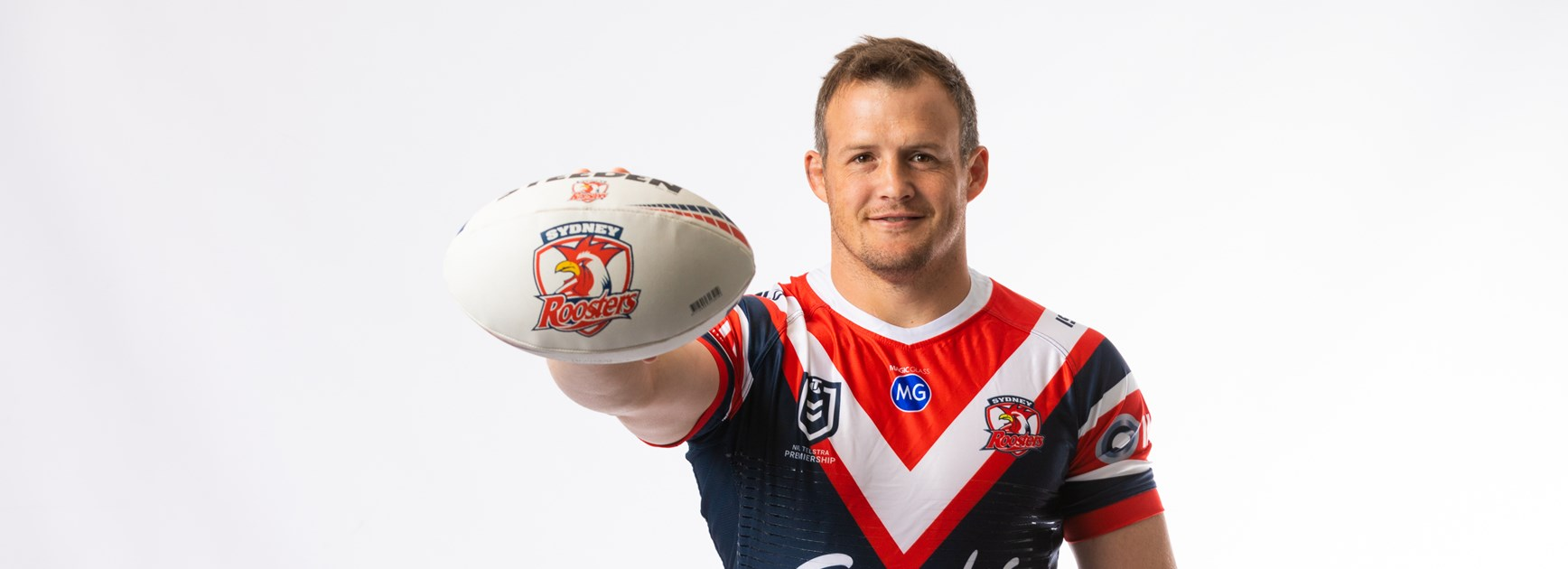 Josh Morris's first time in the Tricolours pre-lockdown at Roosters HQ.