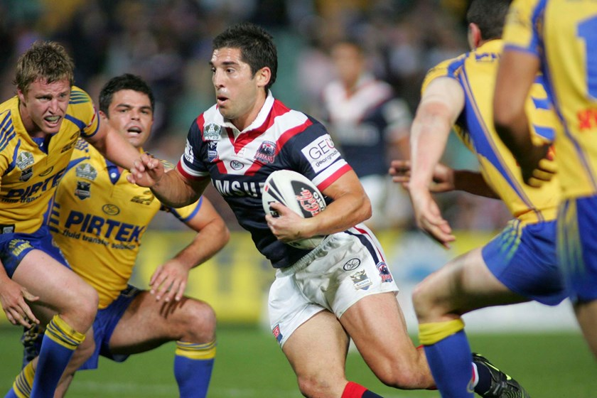 Braith Anasta going at the Eels in 2008.