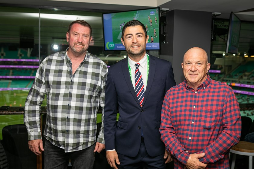Ultimate Member Paul Baikie (Right) with guest and Club Legend Anthony Minichiello